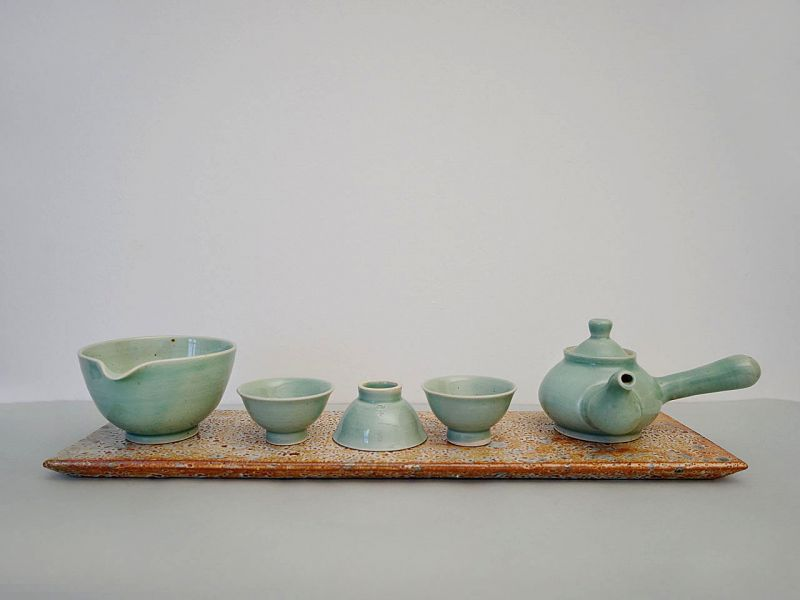 Green Tee set for 3persons, Celadon